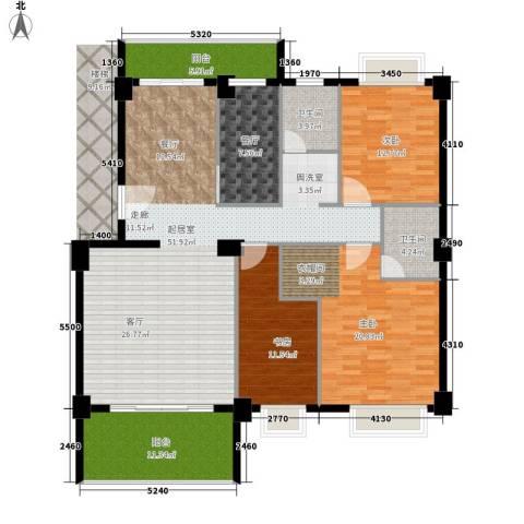 金色华庭3室1厅2卫0厨145.00㎡户型图