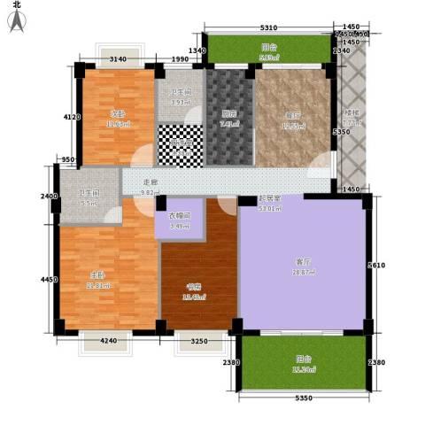 金色华庭3室0厅2卫1厨149.00㎡户型图
