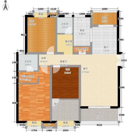 居礼3室1厅2卫1厨150.00㎡户型图
