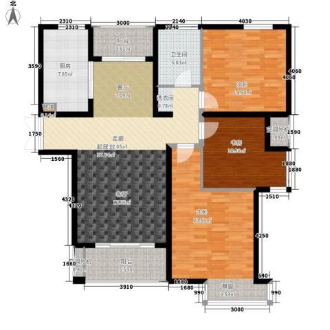 新港天都花园3室0厅1卫1厨120.00㎡户型图