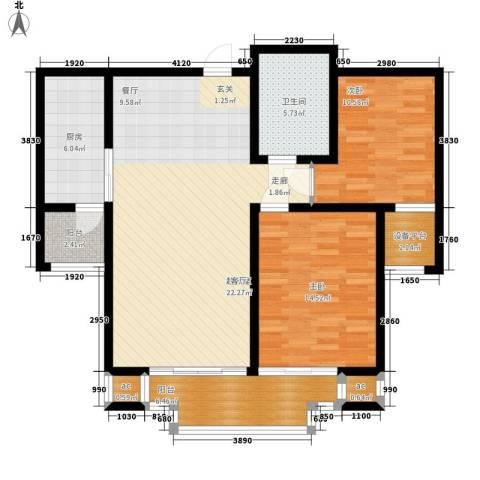 卡玛国际花园2室0厅1卫1厨96.00㎡户型图