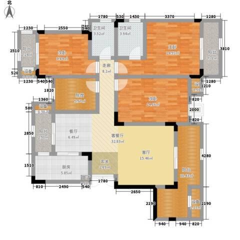 鲁能领秀城3室1厅2卫1厨112.76㎡户型图