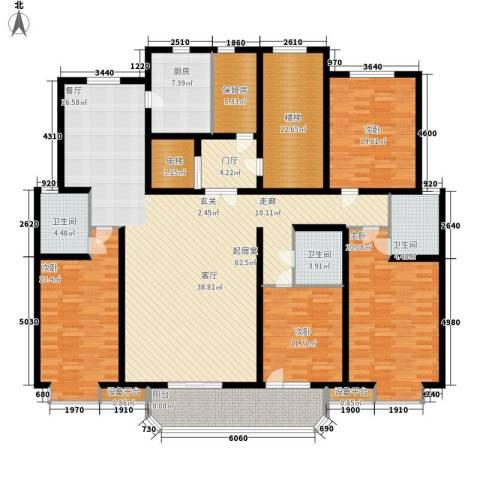 卡玛国际花园4室0厅3卫1厨209.00㎡户型图