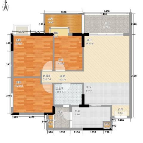 云山诗意3室0厅1卫1厨97.00㎡户型图