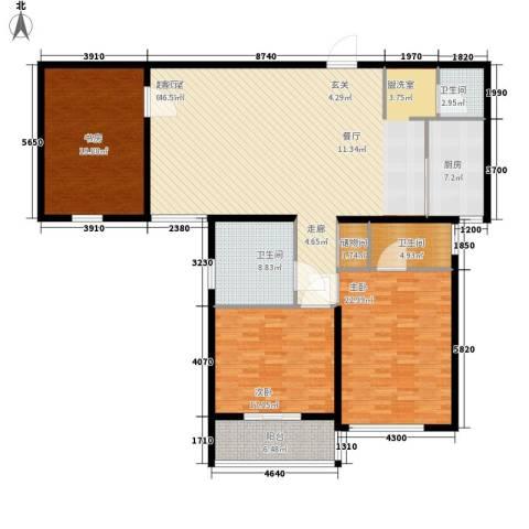 学林雅苑3室0厅3卫1厨169.00㎡户型图