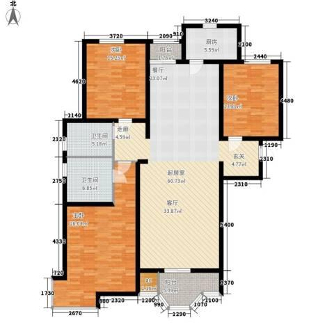 卡玛国际花园3室0厅2卫1厨159.00㎡户型图
