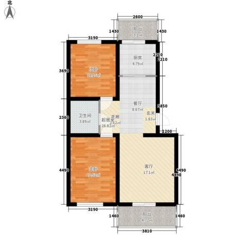 河头里小区2室0厅1卫1厨83.00㎡户型图