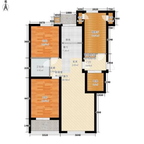 河头里小区2室0厅1卫1厨88.00㎡户型图