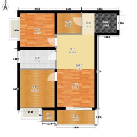 时代SOHO2室1厅1卫1厨87.00㎡户型图