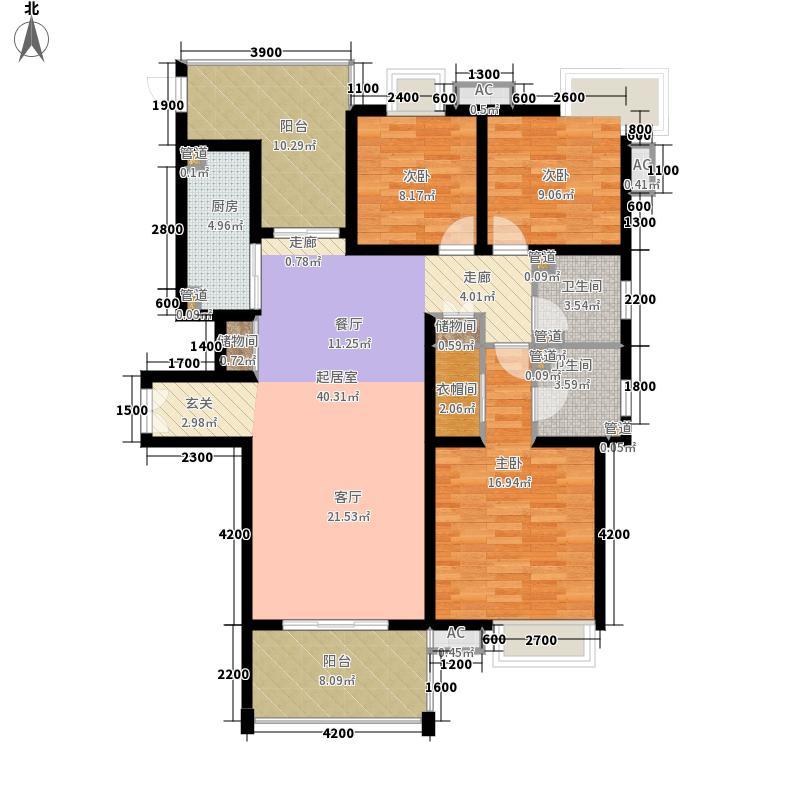 曲江观邸146.73㎡30#C(售罄面积14673m户型