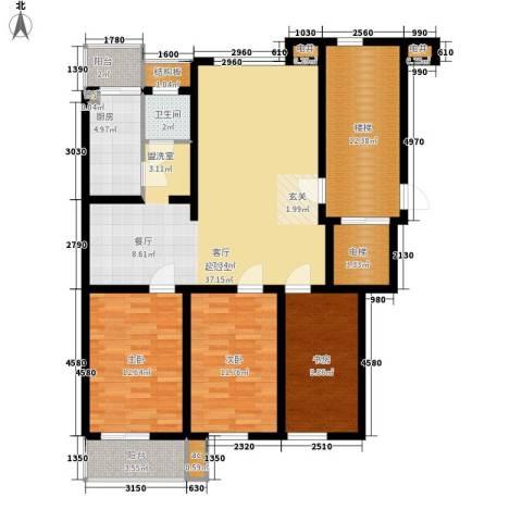 河头里小区3室0厅1卫1厨114.00㎡户型图