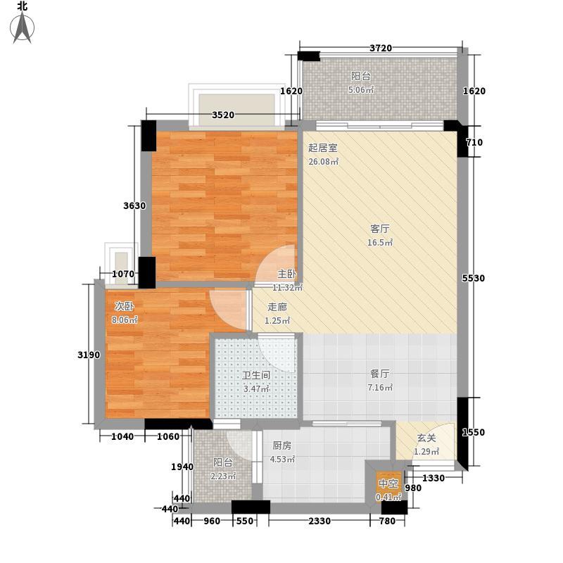 阳光假日园69.67㎡D2栋03单元2面积6967m户型