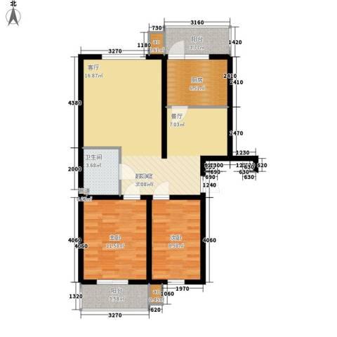 河头里小区2室0厅1卫1厨80.00㎡户型图