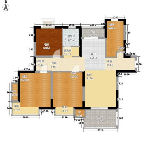 三湘森林海尚3室0厅1卫1厨111.00㎡户型图