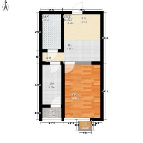 金洋华城1室0厅1卫1厨51.00㎡户型图