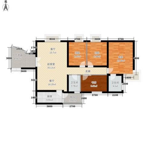城南锦绣4室0厅2卫1厨132.00㎡户型图