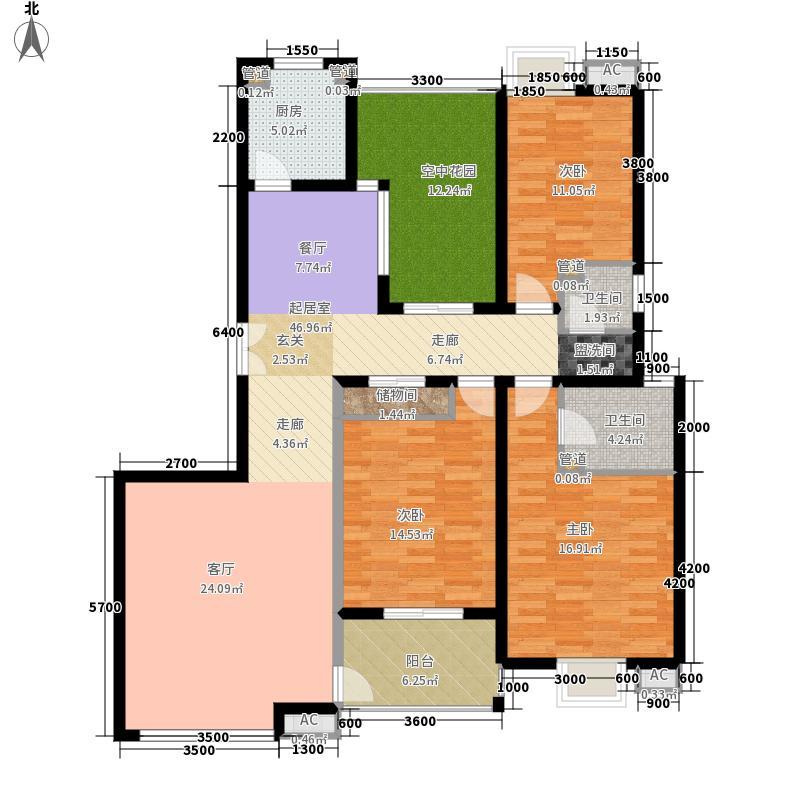 曲江观邸152.20㎡20#B(售罄面积15220m户型