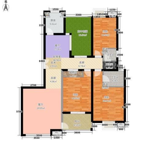 曲江观邸3室0厅2卫1厨152.00㎡户型图
