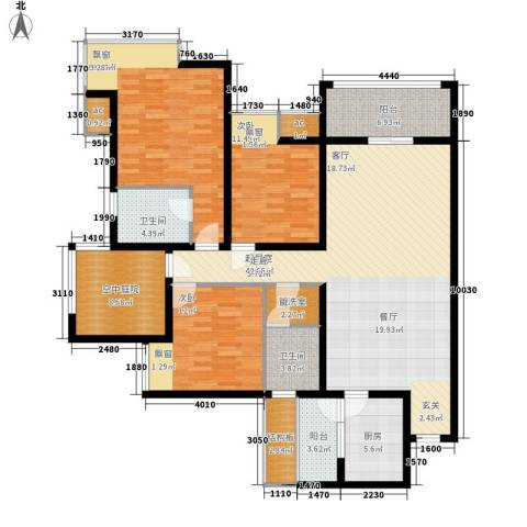 爱尚泾渭X23室0厅2卫1厨180.00㎡户型图