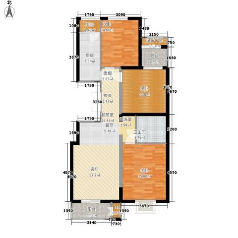 金洋华城3室0厅1卫1厨116.00㎡户型图