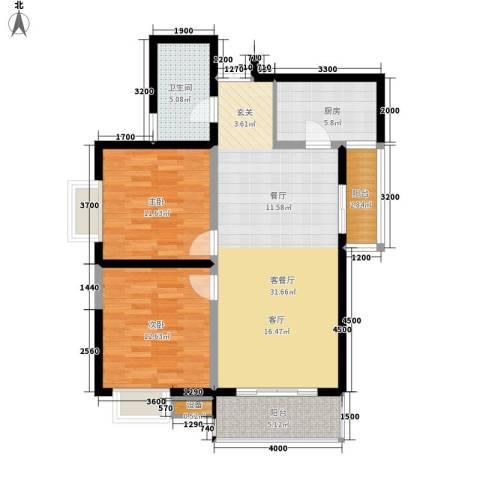 时代SOHO2室1厅1卫1厨105.00㎡户型图
