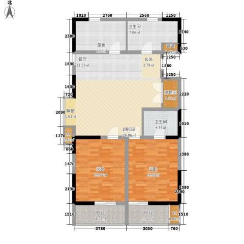 LOMO铂客2室0厅2卫1厨112.00㎡户型图