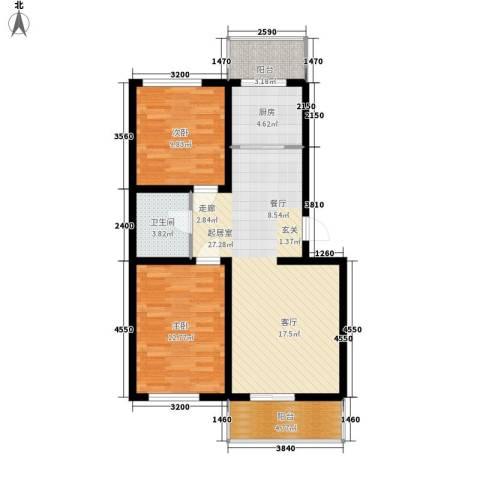 河头里小区2室0厅1卫1厨82.00㎡户型图
