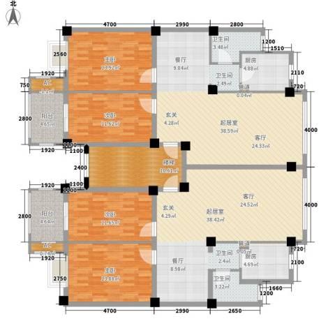 泰时・三湘金地4室0厅2卫2厨235.00㎡户型图