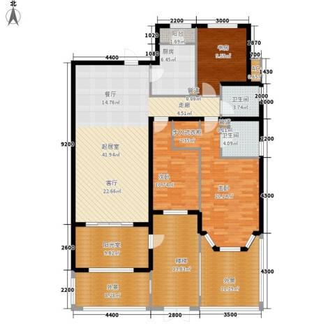 红赫世家3室0厅2卫1厨201.00㎡户型图