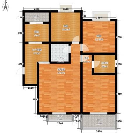 紫郡观澜3室0厅2卫1厨117.00㎡户型图