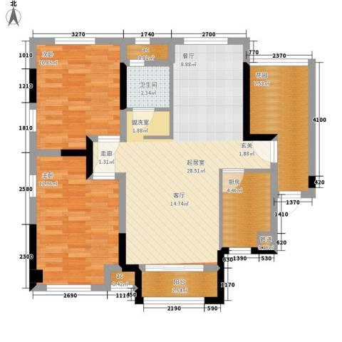 水映加州依云郡2室0厅1卫1厨94.00㎡户型图