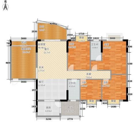 万虹花园4室0厅2卫1厨149.00㎡户型图