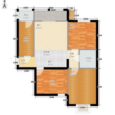金洋华城3室0厅1卫1厨103.00㎡户型图