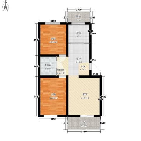 河头里小区2室0厅1卫1厨85.00㎡户型图