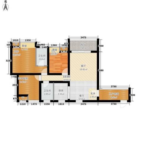 爱尚泾渭X22室0厅2卫1厨93.00㎡户型图