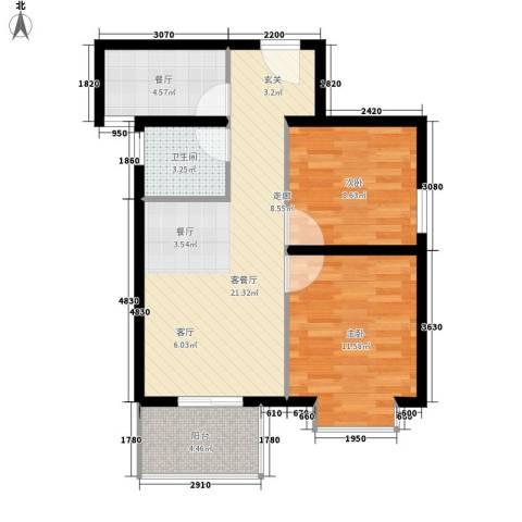 听城2室2厅1卫0厨68.00㎡户型图