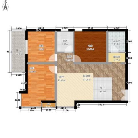 美立方3室0厅1卫1厨97.00㎡户型图