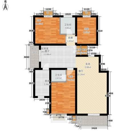 卡玛国际花园3室0厅2卫1厨140.00㎡户型图