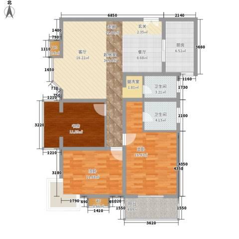 美立方3室0厅2卫1厨131.00㎡户型图