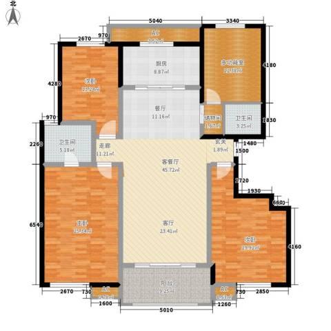 天朗大兴郡二期瀚苑3室1厅2卫1厨149.67㎡户型图