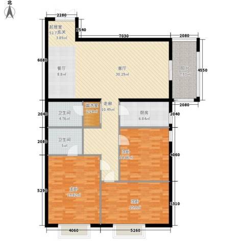 惠馨名仕公馆3室0厅2卫1厨144.00㎡户型图