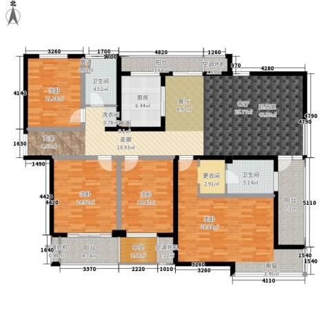 新港天都花园4室0厅2卫1厨170.00㎡户型图