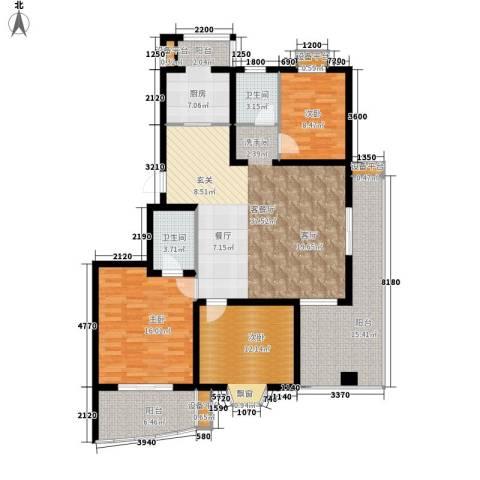良城美景3室1厅2卫1厨159.00㎡户型图