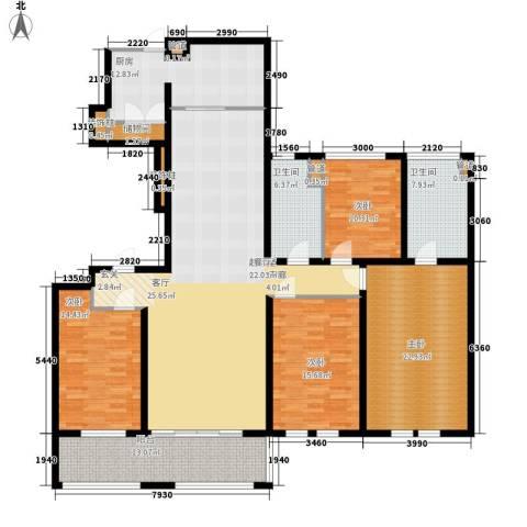 万科信成道4室0厅2卫1厨180.00㎡户型图