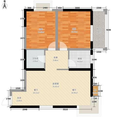 迎泽公寓2室0厅1卫1厨96.00㎡户型图