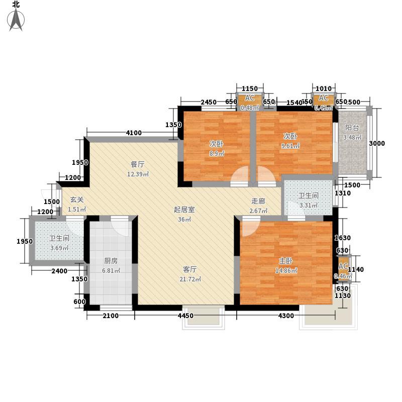 迎泽公寓120.00㎡1面积12000m户型