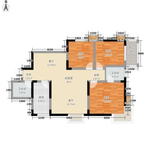 迎泽公寓3室0厅2卫1厨120.00㎡户型图