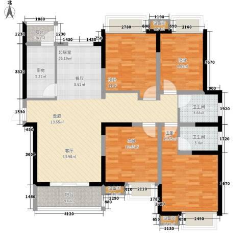 海荣阳光城4室0厅2卫1厨139.00㎡户型图