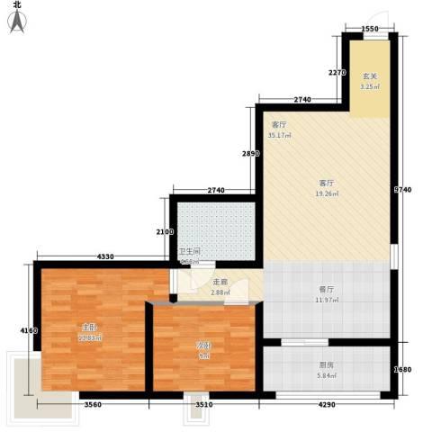 电子城教育局小区2室1厅1卫1厨78.00㎡户型图