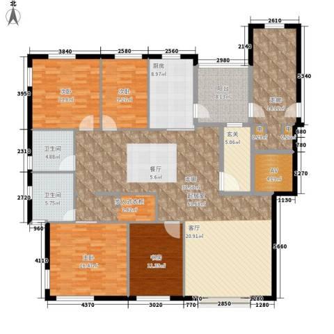 中天国际公寓4室0厅2卫1厨163.28㎡户型图